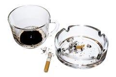 Café e cigarros Imagem de Stock