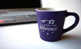 Café e computador Fotos de Stock Royalty Free