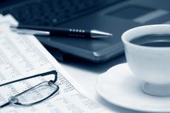 Café e contabilidade. Fotografia de Stock Royalty Free