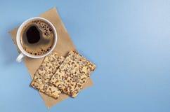 Café e cookies com sementes Imagem de Stock