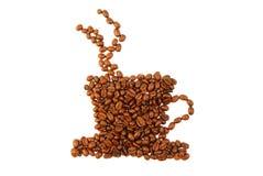 Café e copo Fotografia de Stock Royalty Free