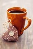 Café e coração foto de stock royalty free