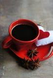 Café e coração fotos de stock