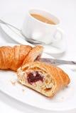 Café e croissant Imagem de Stock