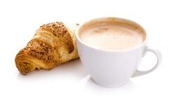 Café e croissant Imagens de Stock Royalty Free