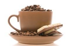 Café e doces Foto de Stock