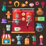 Café e doces Imagens de Stock
