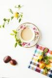 Café e frutas Imagem de Stock Royalty Free