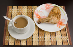 Café e galinha Foto de Stock Royalty Free