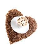 Café e grãos de café Fotografia de Stock Royalty Free