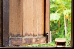 Café e janela quentes Imagens de Stock