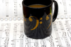 Café e jazz imagens de stock royalty free