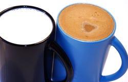 Café e leite Fotografia de Stock Royalty Free
