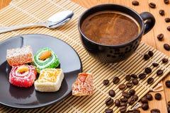 café e loukoum Imagem de Stock