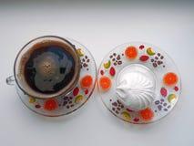 Café e marshmallows Imagens de Stock