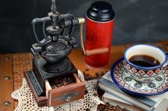 Café e moedor Imagem de Stock Royalty Free