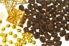 Café e ouro Imagens de Stock Royalty Free