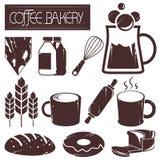 Café e padaria ilustração royalty free