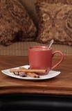Café e petisco fotografia de stock royalty free