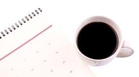Café e planejador do dia III Fotografia de Stock Royalty Free