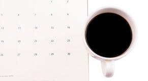 Café e planejador do dia IV Foto de Stock
