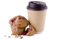 Café e queque Imagem de Stock Royalty Free