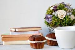 Café e queques Fotos de Stock