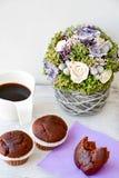 Café e queques Foto de Stock Royalty Free
