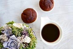 Café e queques Fotografia de Stock