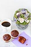Café e queques Foto de Stock