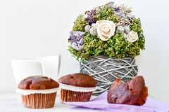 Café e queques Imagem de Stock Royalty Free