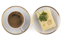 Café e sanduíche Fotografia de Stock Royalty Free