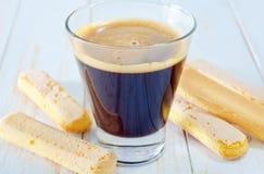 Café e savoyardi Imagens de Stock