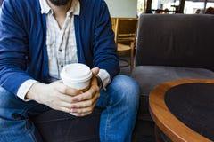 Café e sorriso Imagem de Stock Royalty Free