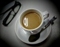 Café e vidro Foto de Stock