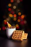 Café e waffle Foto de Stock Royalty Free