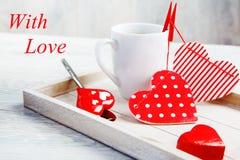 Café effectué avec amour Photos libres de droits