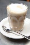 Café elegante del latte foto de archivo