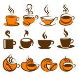 Café. Elementos para o projeto. ilustração royalty free