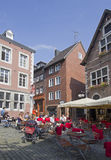 Café em Aix-la-Chapelle, Alemanha Imagens de Stock Royalty Free