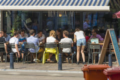 Café em Ghent Foto de Stock Royalty Free