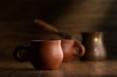 Café em uns copos Imagem de Stock Royalty Free