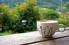 Café a empezar para arriba el día Imagen de archivo libre de regalías
