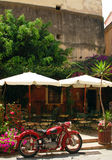 Café en île de Corfou Image libre de droits