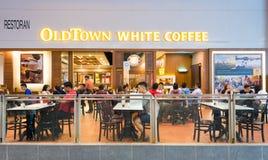Café en el aeropuerto de Kuala Lumpur Fotografía de archivo libre de regalías
