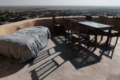 Café en el fuerte, Jaisalmer, la India Imagenes de archivo