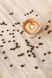 Café en el icono del amor, tiempo de la felicidad Imagen de archivo libre de regalías