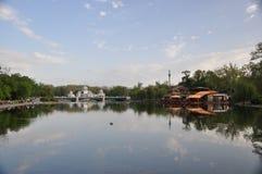 Café en el lago Fotos de archivo