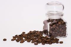 Café en el tarro fotografía de archivo