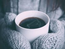 Café en hivers Photographie stock libre de droits